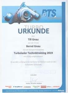 Turbolader Techniktraining